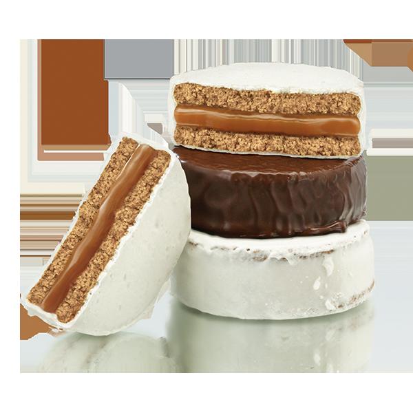 MIXTO. CHOCOLATE Y MERENGUE RELLENOS CON DULCE DE LECHE X 12 UNIDADES DE 50 GR C/U.